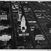 Aerial view, City Hall, Downtown Los Angeles Civic Center, Hollywood Freeway