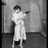 Nancy Carroll with gun, 'Chicago', Southern California, 1927