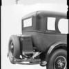 Studebaker with trunk & rack, Southern California, 1926