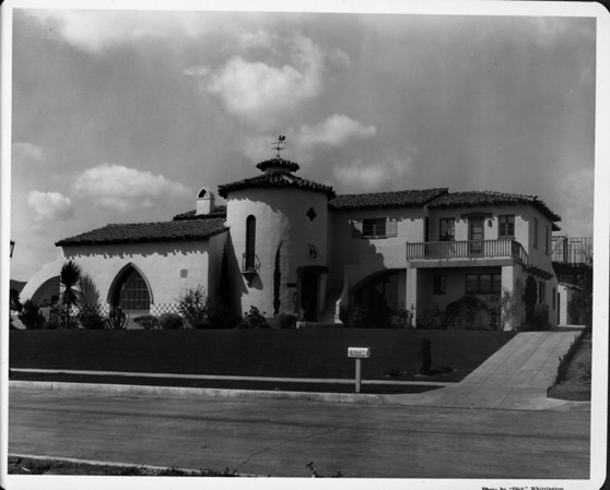 Upscale residential home, spanish style