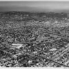 Aerial view, Wilshire Country Club, Third Street, Rossmore Avenue, Highland Avenue