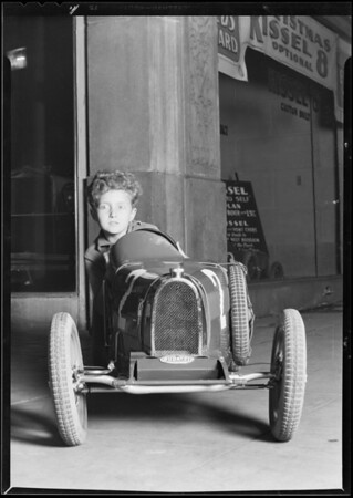 Small automobile, Southern California, 1929