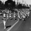 American Legion parade, Long Beach, marching band and drum major