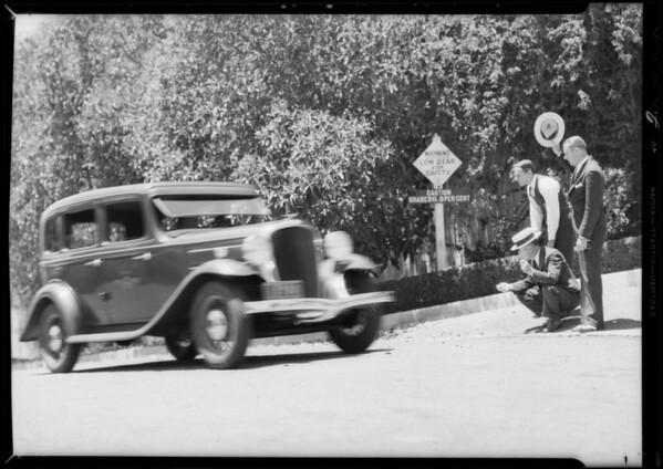 Terraplane on Micheltorena hill, Southern California, 1932