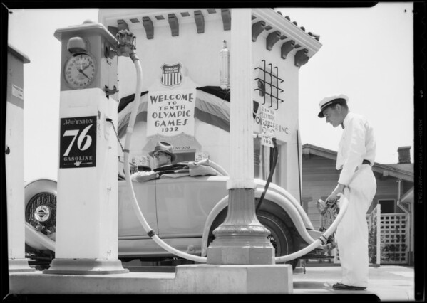 Union Oil station, Southern California, 1932