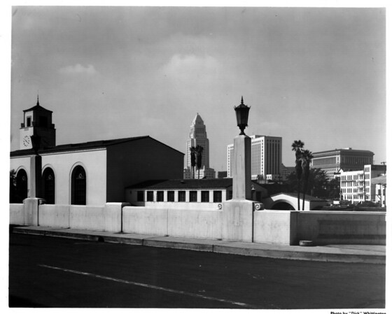 Looking west into the Civic Center of Downtown Los Angeles