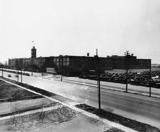 Photo of the Goodyear Tire & Rubber Company, as indicated by the sign in front of the building
