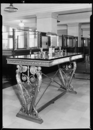 Writing desk, Southern California, 1931