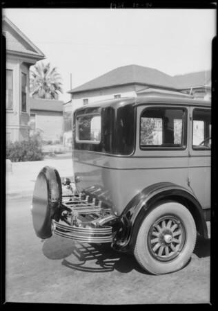 Chrysler trunk, Southern California, 1926