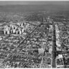 Aerial view, Miracle Mile, Park La Brea