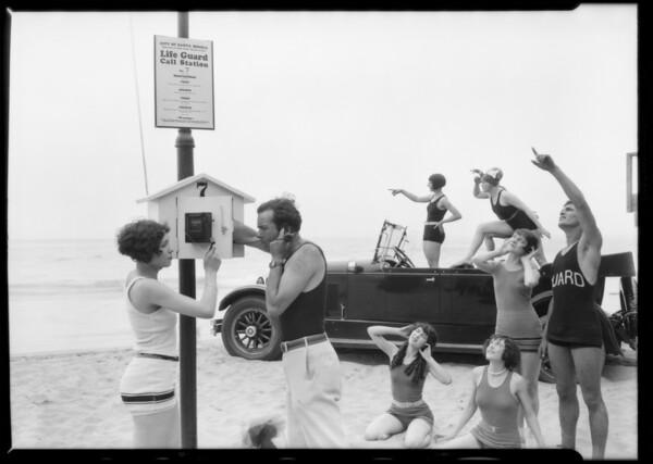 Marmon car & show girls at Gables Club-- India Tires, Southern California, 1926