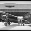 Amelia Earhart & Lockheed, Burbank, CA, 1932