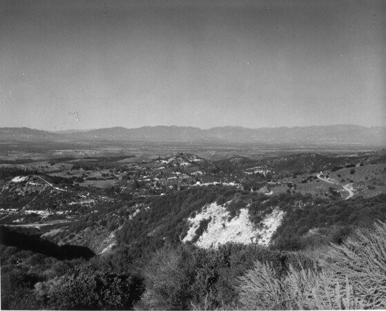 A view of the San Fernando Valley from Topanga Canyon