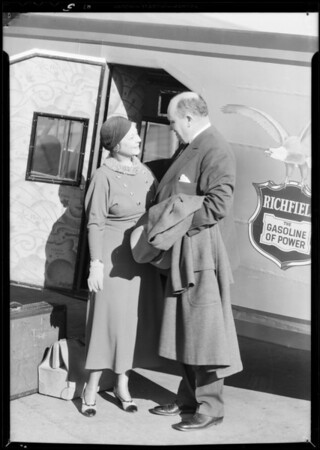Departure of Richfield Fokker (Tommy Fowler, pilot), Southern California, 1932