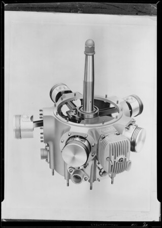 Crank case assembly, Southern California, 1930