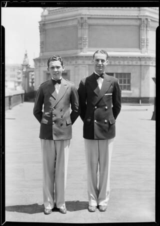 Ushers uniforms, RKO and Orpheum, Southern California, 1931