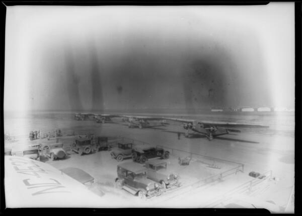 Photos of fleet for composites, Southern California, 1929