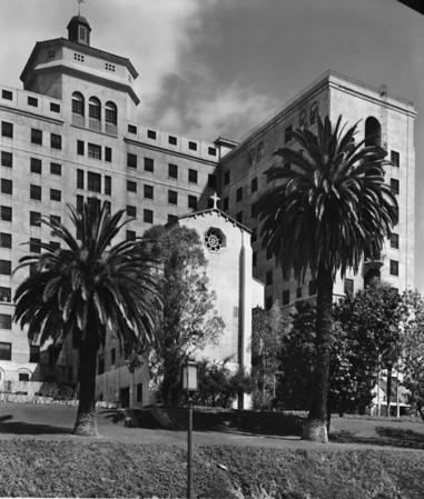 Saint Vincent's Hospital in Westlake on West Third Street between Grand View Street and Alvarado Street