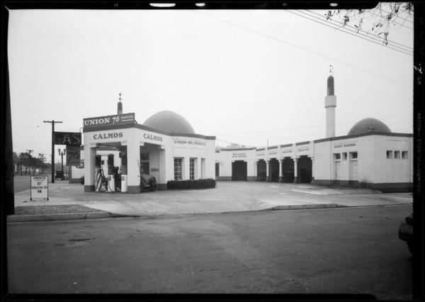 Service station, North Alexandria Avenue & Hollywood Boulevard, Los Angeles, CA, 1932