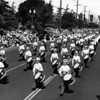 American Legion, marching band on parade, Long Beach