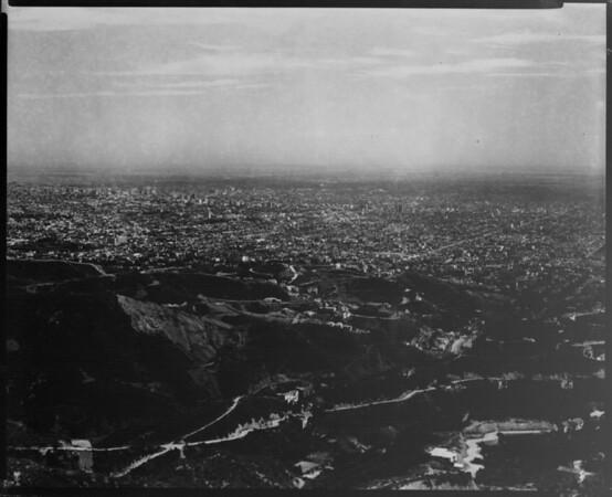 Aerial view of Los Angeles metropolitan area, Los Angeles basin