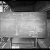 Blackboard in department 29, court house, Southern California, 1930