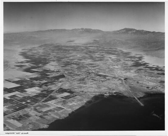 Aerial view of Indio, California