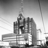 Richfield Oil Corporation on the northwest corner of Flower Street and Sixth Street, facing east along Sixth Street