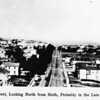 In Downtown Los Angeles on Main Street facing North from Sixth Street towards what is now the Civic Center