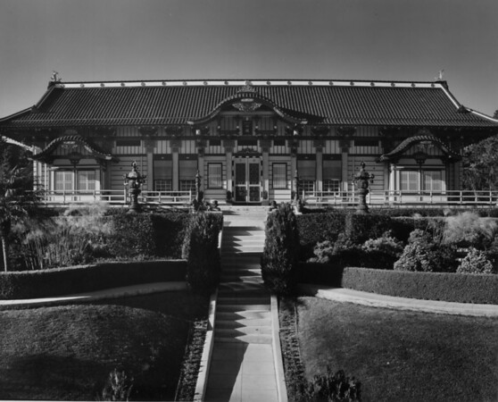 A building in Hollywood's Japanese Gardens