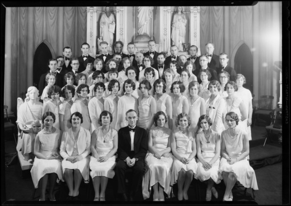 Luthern chorus in church at 18th & Cherry Streets, Southern California, 1930