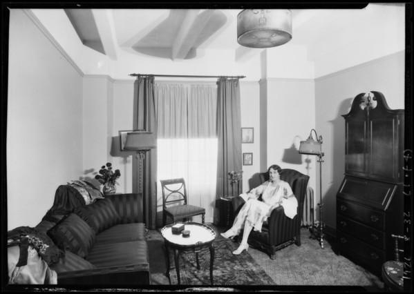 Upstairs, Hotel Figueroa, Los Angeles, CA, 1926