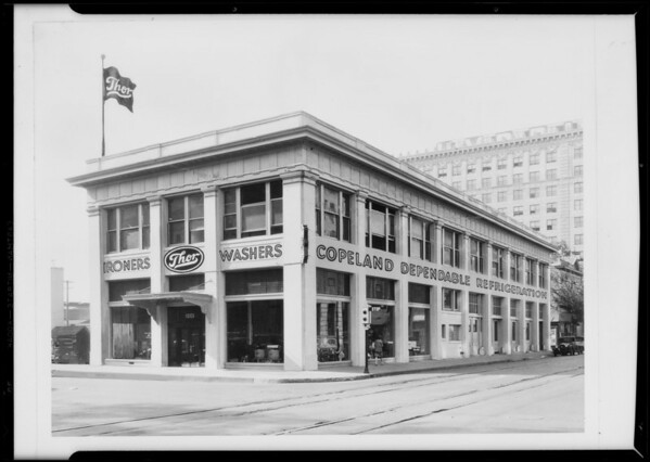 Retouched building, Thor Pacific Co., Southern California, 1931
