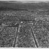 Aerial view metropolitan Los Angeles County, Sports Arena, Coliseum