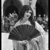 Fiesta scene shots, Mission Playhouse, Mission San Gabriel Arcángel, San Gabriel, CA, 1927