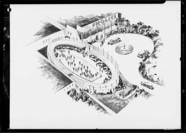 Copy of proposed dining and dancing garden, Frolics Cafe, Southern California, 1932