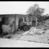 Car backed into house, 3409 Andrita Street, Los Angeles, CA, 1931