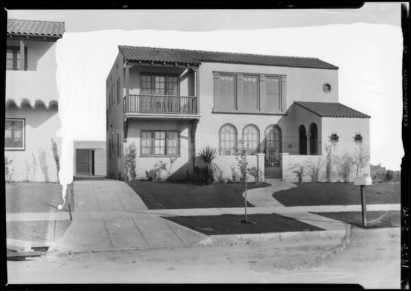 1048 South Hayworth Avenue, Los Angeles, CA, 1927