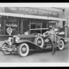 Paul Whiteman and Cord car, MacDonald-Dodson Tire Co., Southern California, 1930