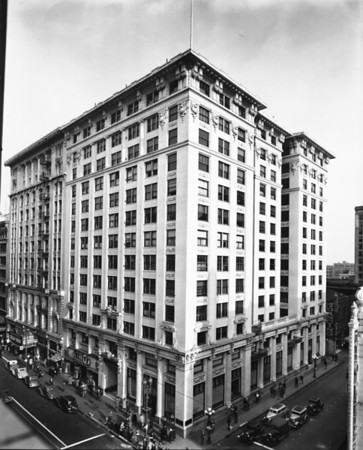 The Chapman Building on South Broadway, at the corner of Broadway and Eighth Street