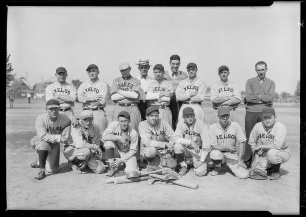 Baseball team, Axelson Machine Co., Southern California, 1926