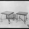 Tile top metal tables, Ricen Novelty Iron works, Southern California, 1930