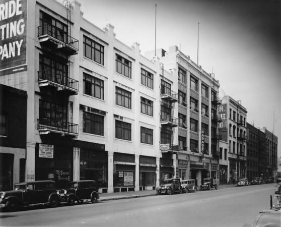 Los Angeles Street, west side north of Third Street, McBride Printing Company