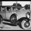 Packard and Franklin sedans, Cramers garage, 16201 South Vermont, Southern California, 1931