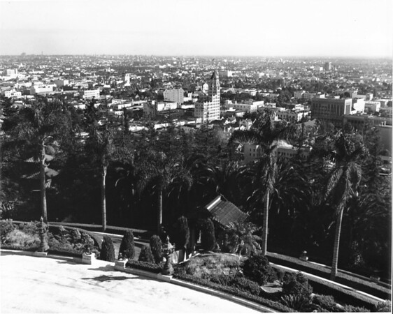 A view of Hollywood looking southeast from the Japanese gardens