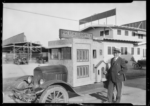 New offices and truck, Southern California, 1926