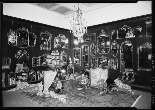 Mirror display for Mr. Harlowe, Broadway Department Store, Los Angeles, CA, 1926