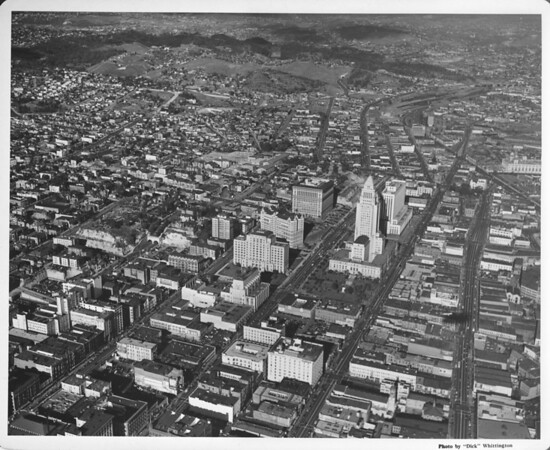 Aerial view of the Los Angeles Civic Center