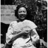 Young girl on ricsha, Chinatown in 1948