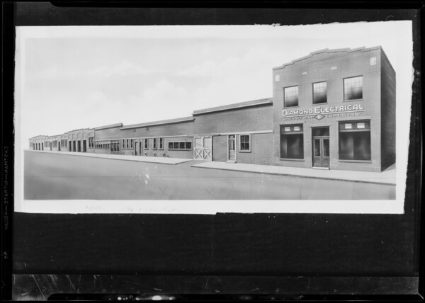 Copy of retouched building, Diamond Electrical Manufacturing Company Incorporated, Southern California, 1930